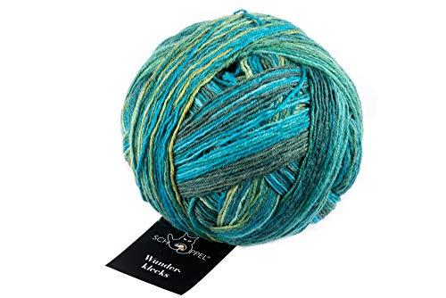 Schoppel Wolle Zauberball Wunderklecks 2396 Färberlatein, Bunte Sockenwolle mit Farbverlauf zum Stricken oder Häkeln