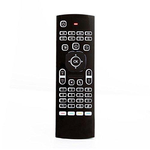 MX3-L 2.4G Draadloze Air Mouse Toetsenbord 6-assige TV Box Afstandsbediening met LCD Backlight