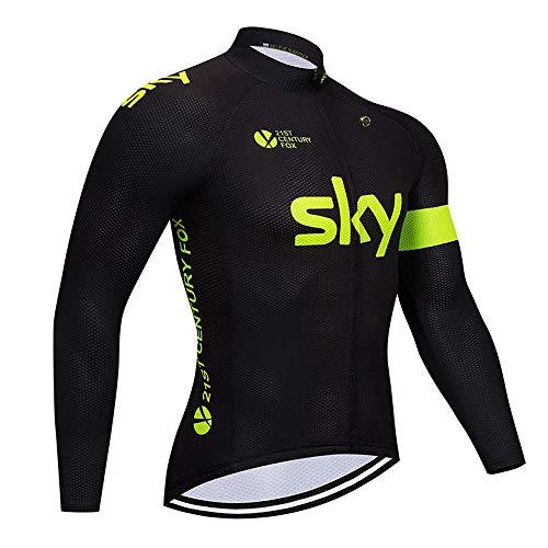 ADKE Homme Maillots de Cyclisme, Vélo VTT Vêtements Veste Manches Longues