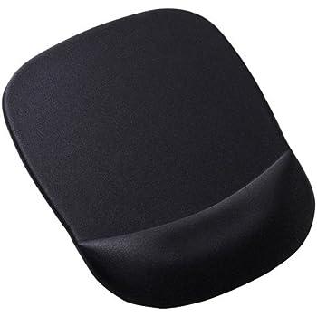 サンワサプライ 低反発リストレスト付きマウスパッド 腕・肩の疲労軽減 ブラック MPD-MU1NBK