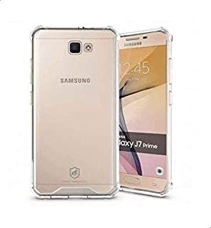 Samsung Galaxy J7 Prime cover, anti-shock, anti-fall protection, silky smooth transparent with screen protector