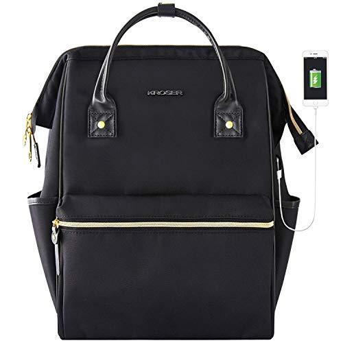 WLT Laptop-Rucksack 156 Zoll Stilvoller Schulcomputer-Rucksack Lässiger Tagesrucksack Laptop-Tasche Wasserabweisende Nylon-Business-Tasche Tablet mit USB-Anschluss für Reisen/Business/College