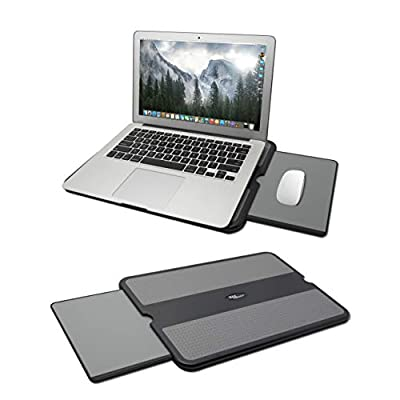Laptop Desk with Retractable Mouse Tray, Anti-Slip Heat Shield...