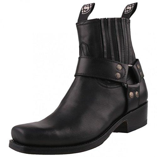 Sendra Boots , bottes motardes femme - Noir - Noir, 41