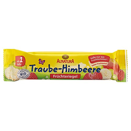 Alnatura Bio Früchteriegel Traube-Himbeere, 30er Pack (30 x 23 g)