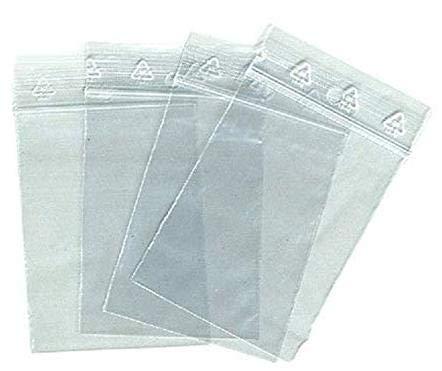 HND Lot de 100 sachets Zip 60x80mm 90 microns Blanc