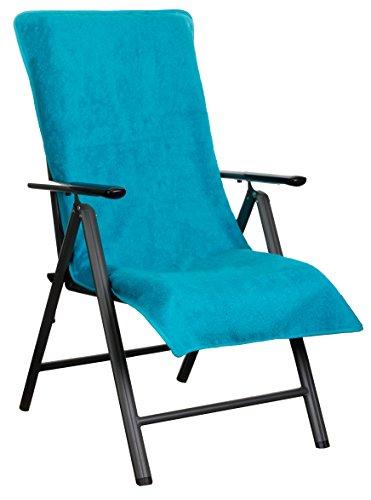 Brandsseller Rizo Funda de colchón para cocidos enstuhl y Tumbona de jardín y como Playa Liegen Auflage–de algodón 100%–verschiedenefarben, Turquesa