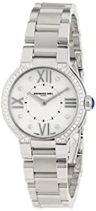 Raymond Weil Women's 5927-STS-00995 'Noemia' Stainless Steel Mother-Of-Pearl Diamond Dial Dress Watch