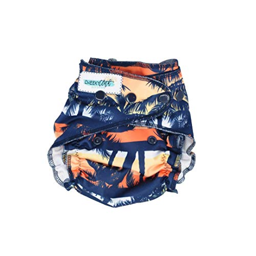 Cheeky Cloth One Size Reusable Swim Diaper (Sunset Palms)