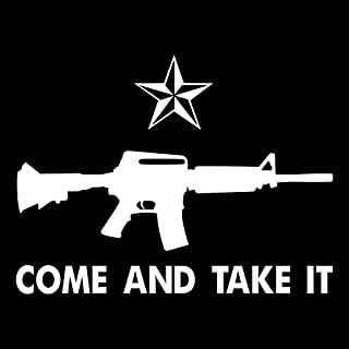 Come And Take It Vinyl Decal Sticker   Cars Trucks Vans SUVs Windows Walls Cups Laptops   White   7 Inch   KCD2433