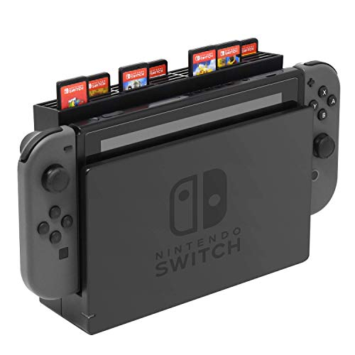 Skywin Game Card Stand for Nintendo Switch - Switch Game Card Case Holds Up to 28 Games - Use Stand Alone or Mount to Switch Dock