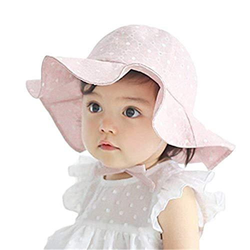 Bestgift Sombrero de sol de algodón para niños pequeños