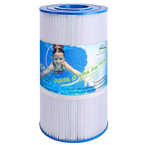 TOREAD Pool Filter Replaces Pleatco PA90, CX900RE, C900, Unicel C-8409, Filbur FC-1292, Posi-Clear Sta-Rite PXC95, Clearwater II ProClean 100, Aladdin 19002, 25230-0095S, 90 sq.ft Cartridge, 1 Pack