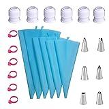 Ashley GAO 24 unids/set boquilla decorativa traje pastelería bolsa de decoración de la torta herramientas para hornear conjunto pastel con convertidor