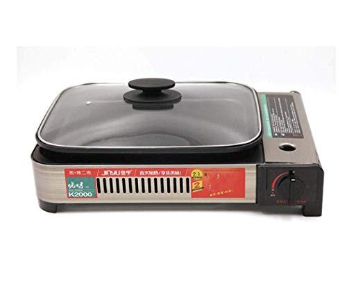 ZLL-Outdoor gas stove Campingkocher, Multifunktionsbackofen mit Kassettenofen, Gasherd für den Außenbereich, Picknick-Grill für den Haushalt