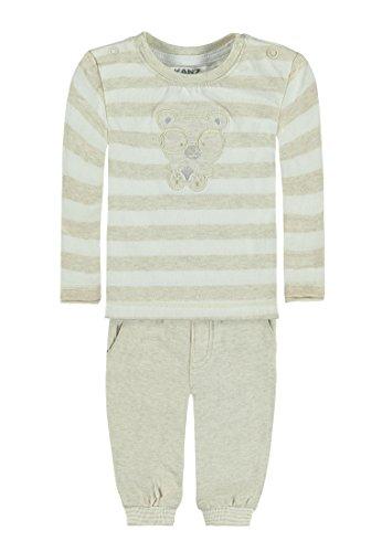 Kanz Unisex Baby T-Shirt 1/1 Arm + Hose Bekleidungsset, Beige (Rainy Day Melange 8194), 62