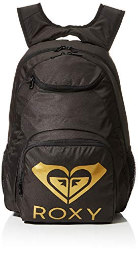 ROXY Womens SHADOW SWELL SOLID LOGO Backpack, Anthracite, Medium