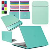 Love My Case / Bundle Egg Blue/Ocean Green Hard Shell Case with Matching Neoprene Sleeve Cover for 11-Inch Apple MacBook Air [Will Not MacBook Pro Models], [Importado de Reino Unido]