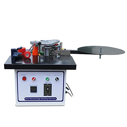 Benchtop Edge Bander, Woodworking Portable Edge Bander Banding Machine, Double-Sided Gluing, Works with Straight and Arc Edges