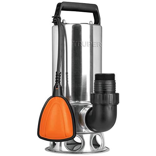 Truper BOS-1-1/2SM, Bomba eléctrica sumergible de uso rudo, para agua sucia, 1 1/2 HP