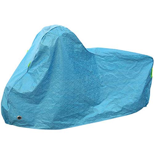 Nbrand Bicycle Cover Mountain Bike Cover 20 inch 26 inch Bicycle Cover Thick Rainproof Sunscreen Sunshade Snow dustproof cover-20-22 inch Aluminum foil Blue_Conventional