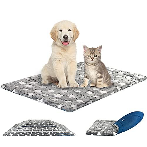 KROSER Almohadilla para Perros Colchoneta Reversible Colchón para Mascotas Elegante 76 cm Almohadilla de Esponja de Alta Densidad Lavable a Máquina Cama para Perros Pequeños y Gatos de hasta 20.4kg