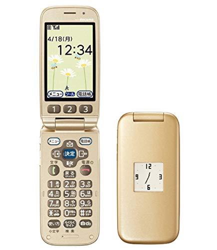 らくらくホン ベーシック3 F-08C ゴールド 携帯電話 白ロム ドコモ docomo