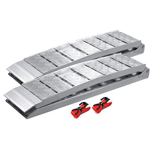 2x rampe di carico pieghevoli in alluminio per moto e quad 228cm 1360kg
