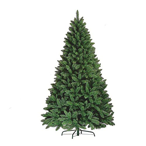 Premium Green Artificial Christmas Xmas Tree Pine Metal Stand Tips Spruce (7FT (210cm/2.1m) - 1000 Tips)