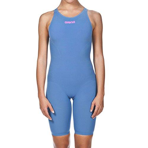 Arena Powerskin R-EVO One Women's Open Back Racing Swimsuit, Blue/Powder Pink, 24