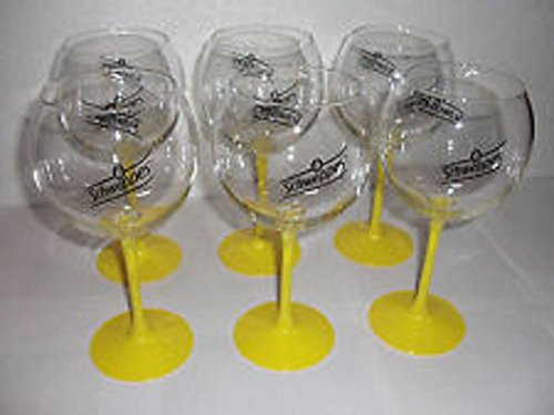 6er-Set Schweppes Gläser gelber Fuß, 60cl