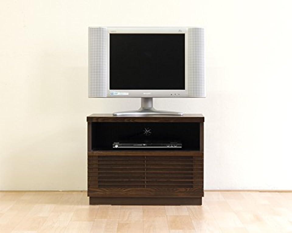 誰も柔和たるみ日本製 和風モダン 2色対応 幅60cm ロータイプテレビボード 完成品 (ブラウン)