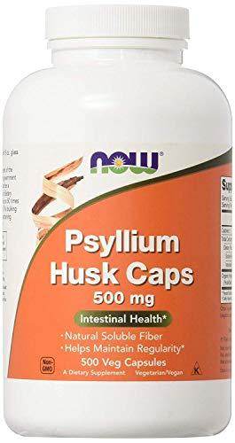 Now Foods Psyllium Husk Caps, 500mg, 500 Vegetarian Capsules