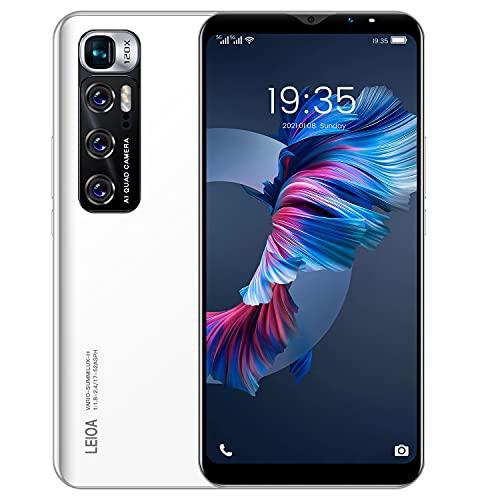 Teléfono Móvil Libres 3G, Android Smartphone Libre, 5.5' Display, 1GB + 4GB, Cámara 5MP, Batería 2800mAh, Dual SIM Dual Camera Moviles Baratos y Buenos (2*SIM+1*SD) (M10-White)