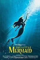 映画ポスター、映画人魚姫(1989)The Little Mermaid (1989) ャンバスプリントアートポスター 写真を印刷 A3サイズ(40x30cm)、素晴らしい室内装飾品