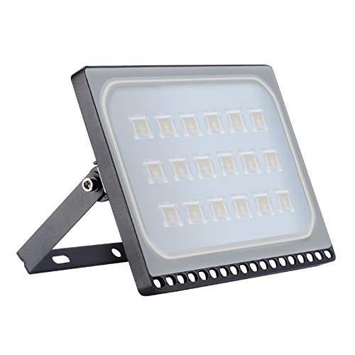 100W LED Fluter, 10000LM Warmweiß 3000K Außenleuchte LED, IP65 Wasserdicht LED Strahler Außen Super Helle, Flutlichtstrahler für Garten Garage Sportplatz Parkplatz Vorplatz
