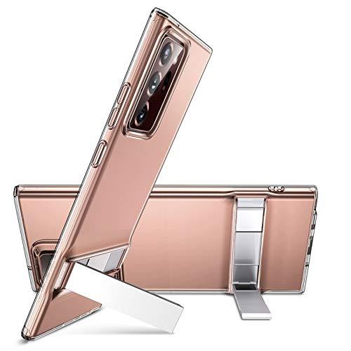ESR Ständer Hülle für Samsung Galaxy Note 20 Ultra [Vertikaler und Horizontaler Stand] [Originales Silikon und Verstärkter Fallschutz] – Klar