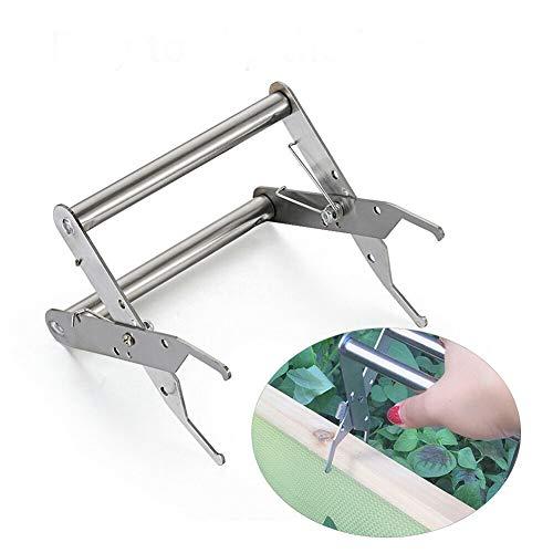 Soporte para marco de abeja Capture Frame Grip accesorio de apicultura aumentar el número de herramientas para abejas miel mango de acero inoxidable (plata)