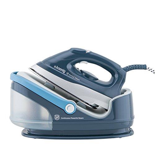 h.koenig V5i ferro da stiro, 2400 W, 1.7 Litri, 90, plastica, metallo, Blu/Azzurro