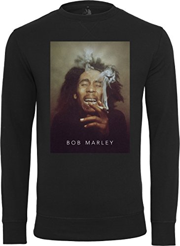 Mister Tee Bob Marley Smoke Crewneck Sweatshirt Men's, Black, M