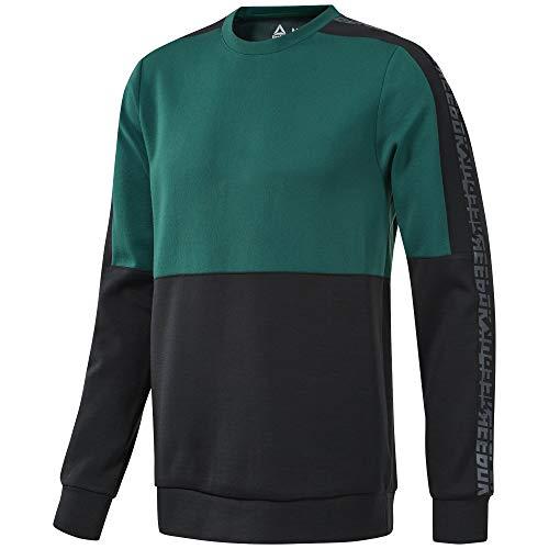Reebok Herren MYT Sweatshirt Schwarz, Grün Shirts, S