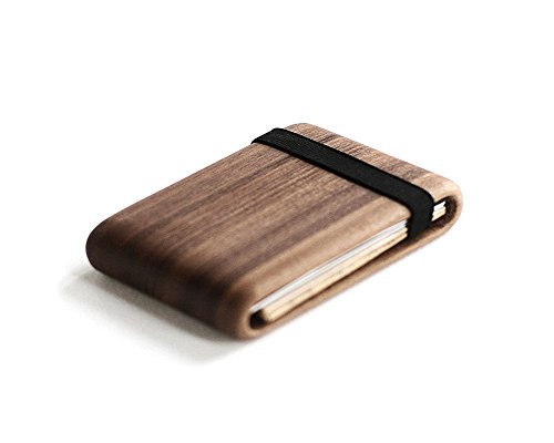 Wood Wallet, Walnut Wood w/Elastic Band by Haydanhuya