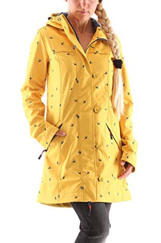 Blutsgeschwister Wild Weather Long Softshell-Anorak (L, Gelb)