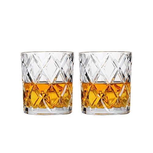 Paquet de 2 Simple Diamant Classique Cristal Verre Whisky Tasse Esprit Verre Verre À Vin Ménage Tasse Bière Verre Tasse À Jus Tasse À Thé JXLBB