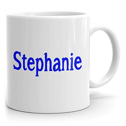 Stephanie Kaffeetasse – Personalisierte Tasse für Tee, heiße Schokolade, Milch – Bestes Geschenk für Frauen – weiße Tasse – Skizzen-Design