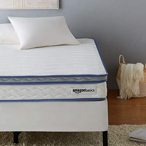 AmazonBasics Hybrid Mattress - Memory Foam With Strong Innerspring Support - Medium Feel - CertiPUR-US - 8-Inch, Twin XL