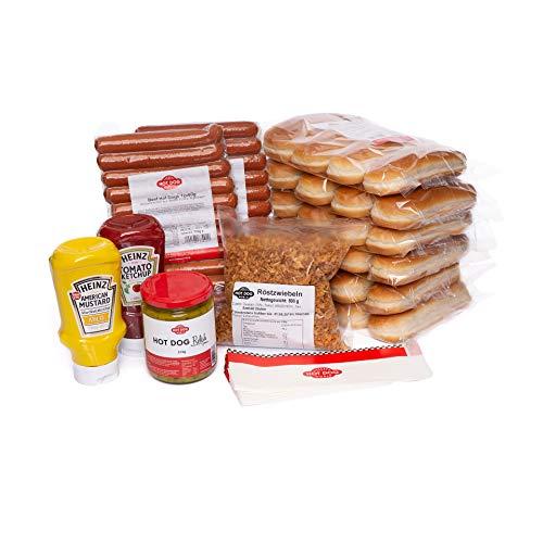 Hot Dog World BEEF Hot Dog Party-Paket 24 Stück (Hot Dog Relish)