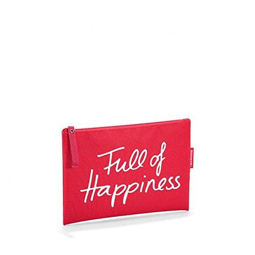 Reisenthel - Astuccio per cosmetici, 24 cm, Full Of Happiness (Rosso) - LR0306