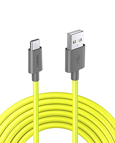 VANKO 1.5m Neongelb USB C Ladekabel Datenkabel für Samsung Galaxy S9, S9+, S8, Huawei P9, Note 8, Nexus 5X/6P, MacBook, Google Chromebook Pixel und alle Anderen Typ C Geräten