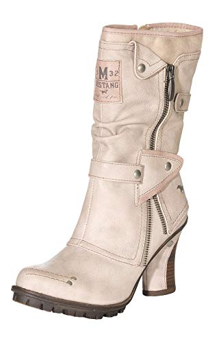 Mustang Shoes Damen Stiefeletten 1141-606-243 Ivory 40